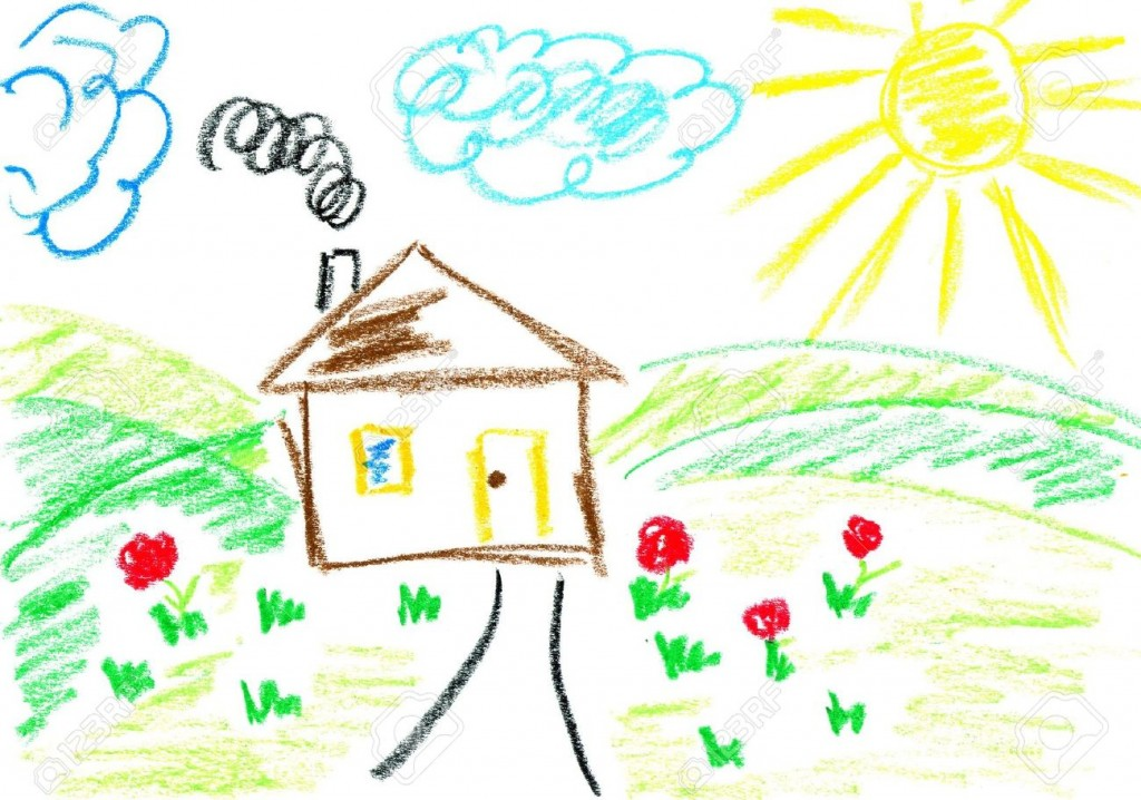 3757414-House-Kids-art-Child-s-drawing-with-crayons--Stock-Photo-crayon