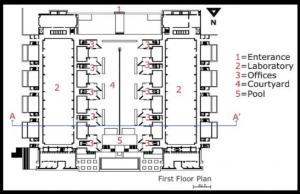 First Floor plan and Second Floor plan, The Salk Institute, California