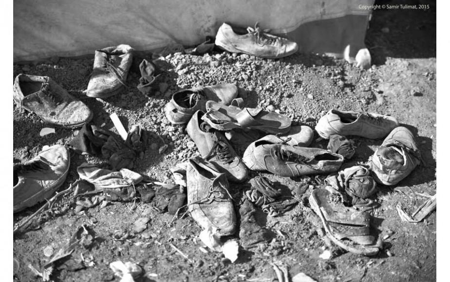 Çöplük değil ayakkabılık.